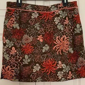 Tehama , EUC, floral skort, Size 10